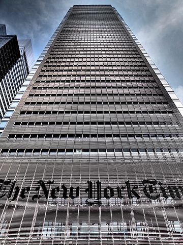 Photo of the New York Times Building in NYC