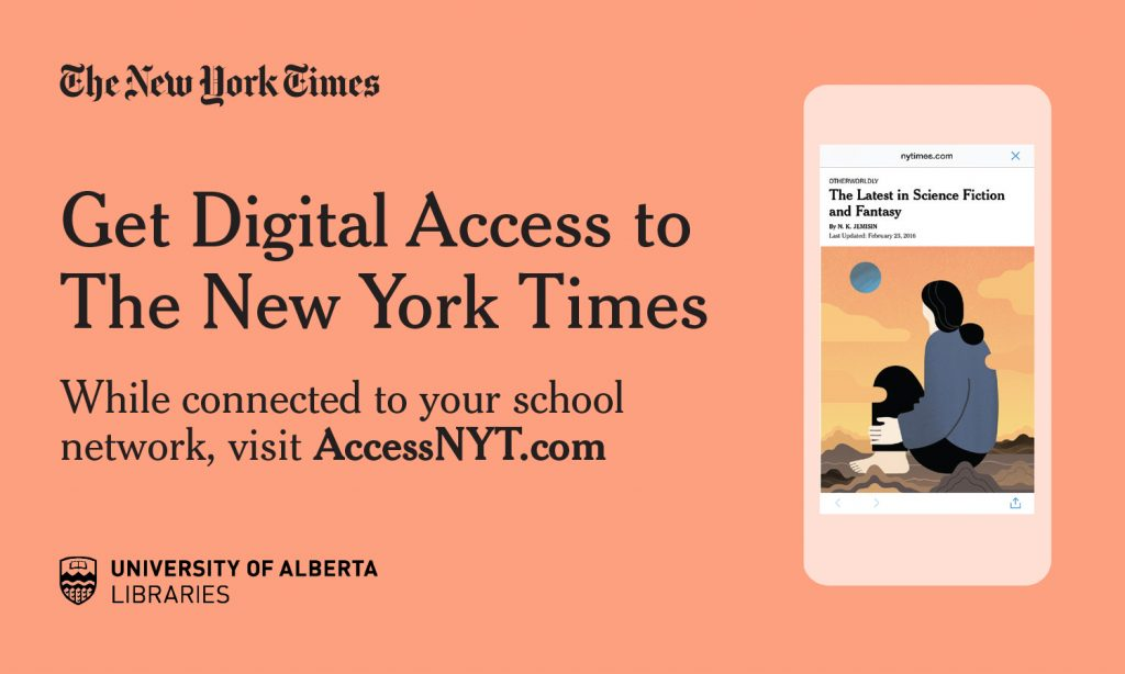 Get Digital Access to the New York Times - while connected to your school network, visit AccessNYT.com