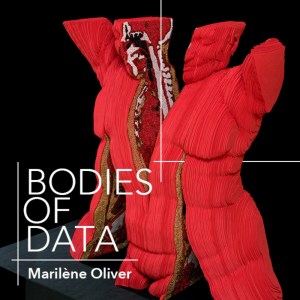 Bodies of data logo with image of an art piece in the background
