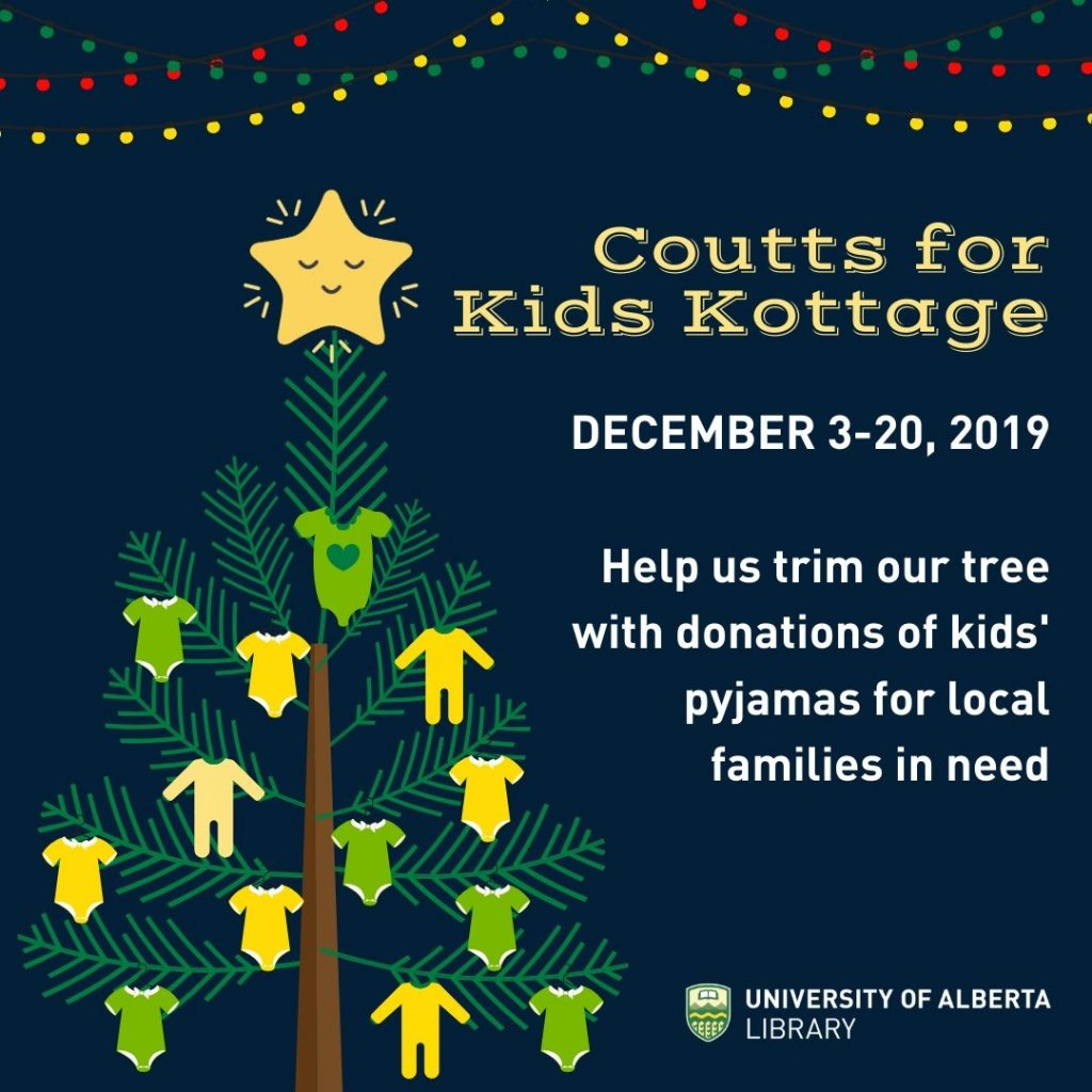 Coutts for Kids Kottage December 3-20, 2019  Help us trim our tree with donations of kids' pyjamas for local families in need