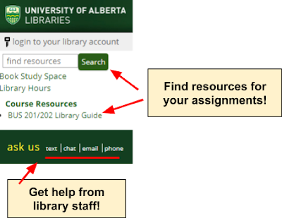Screenshot of Library eResource block in eClass