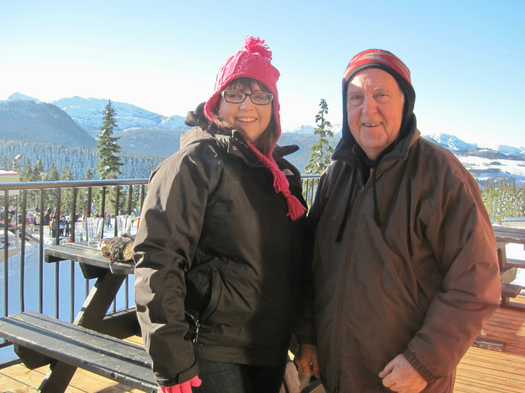 Doris and Theo at Mount Washington Skiing Alpine Resort.