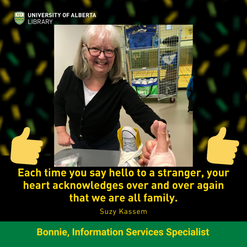 UAlberta ISS Bonnie gives the thumbs up.