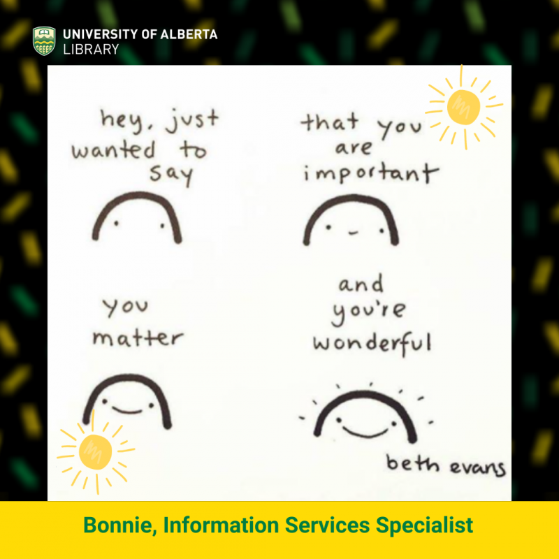 UAlberta ISS Bonnie's infographic by Beth Evans.