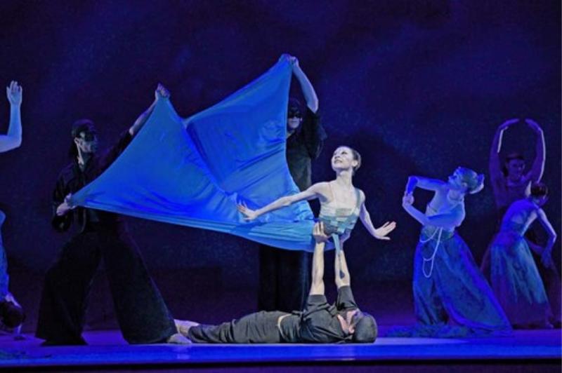 The little mermaid ballerina dancing in the ballet